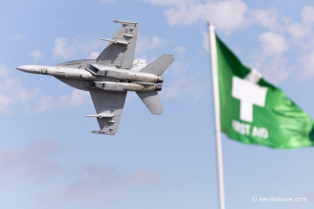 FA-18 flypast